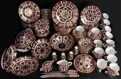 Royal Crown Derby Old Imari Porcelain, 148 Pieces