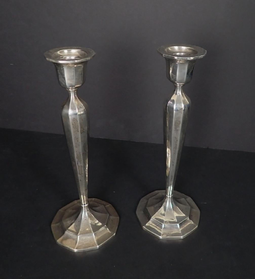 Pair International Sterling Weighted Candlesticks - 2