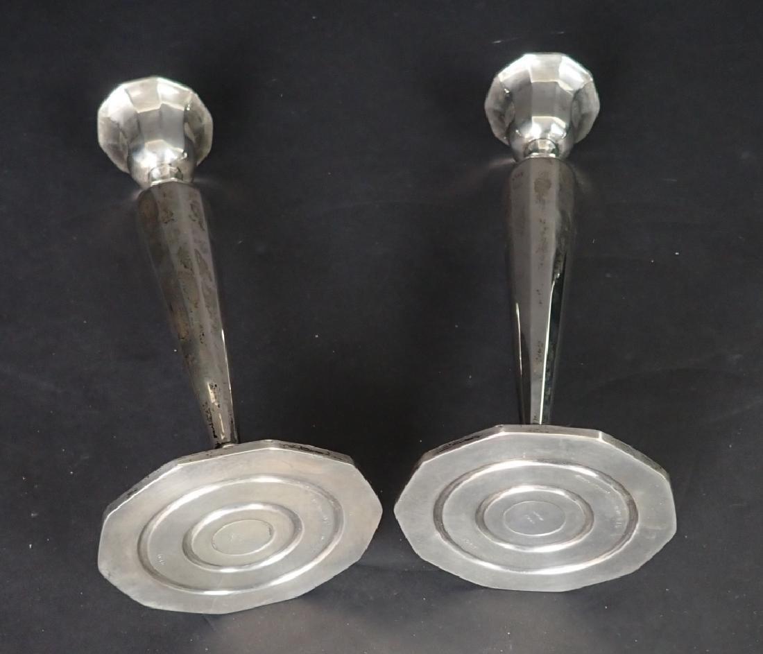 Pair International Sterling Weighted Candlesticks - 9