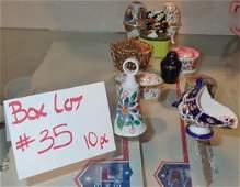 Box Lot #35 Collectible Boxes, Eggs, +