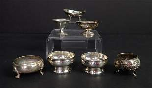 Salt cellar collection, includes Tiffany & Co.