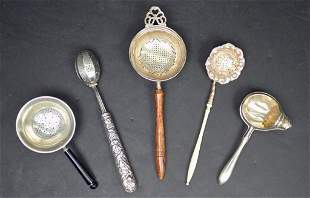 Antique Sterling Silver Tea Strainers & Infuser