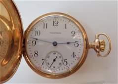 Vintage Gold Pocket Watch, Hunter Case