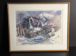 Cecile Ryden Johnson Signed Lithograph