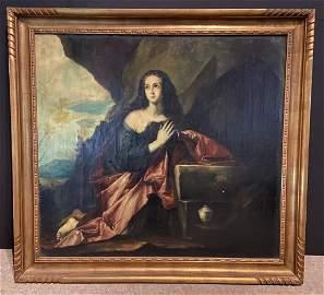 Magdalena penitente, After Jose de Ribera O/C