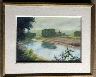 Signed Watercolor Landscape