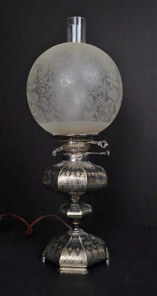 Antique English Converted Oil Lamp