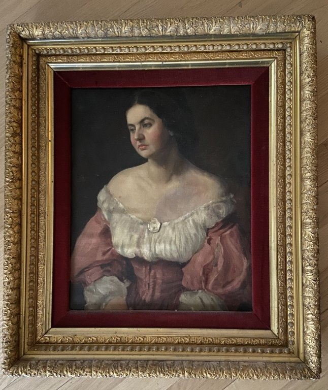 19th Century Oil Paining, Portrait of a Woman
