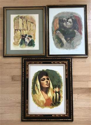 Sandu Liberman (1923 - 1977) 3 Signed Lithographs