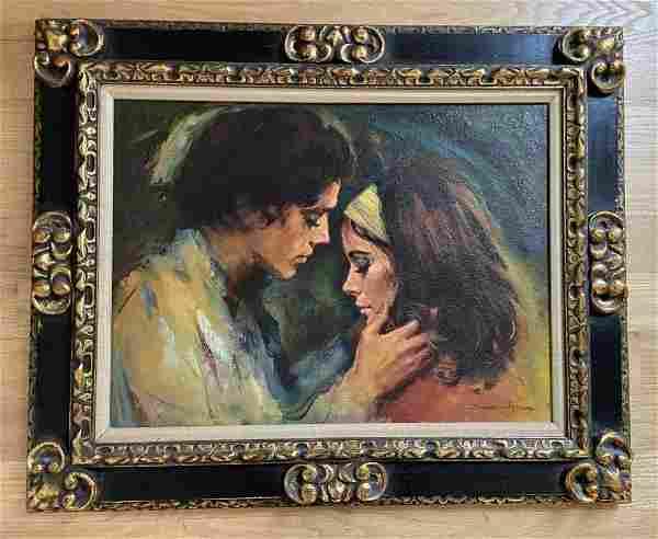 Sandu Liberman (1923 - 1977) Portrait of a Couple