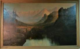 Henry Arthur Elkins (American) Monumental O/C