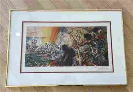 Salvador Dali Hawaiian Fisherman Lithograph