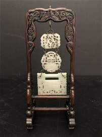 A Fine Chinese Hanging Jade Chime