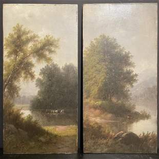 Pair of 19th Century Riverscapes O/B