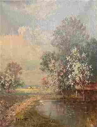 Impressionist Landscape Eugene La Foret