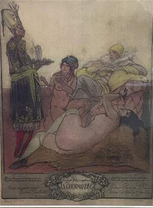 Art Deco Erotic Print