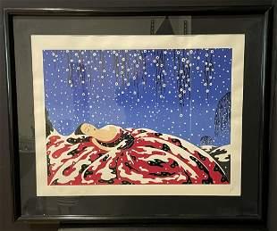 "Erte Serigraph ""Sleeping Beauty"""