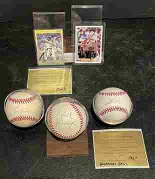 Autographed Baseball Lot