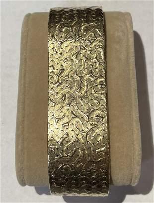 Stunning 14K Textured Bracelet