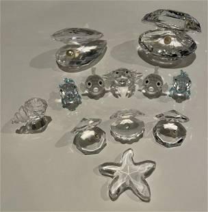 Lot of 12 Swarovski Crystal Figures