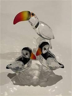 Swarovski Toucan and Puffin Birds