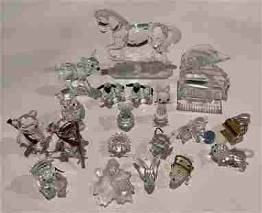 Lot of 19 Swarovski Animals and Accessories