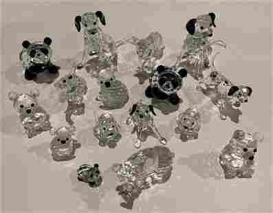 Lot of 16 Swarovski Dogs and Bears