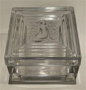 Lalique Duncan Pattern Covered Box