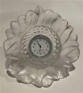 Lalique Sunflower Clock