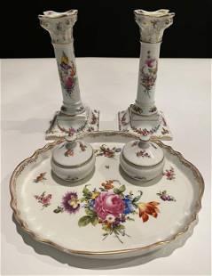 Dresden Porcelain Desk Set