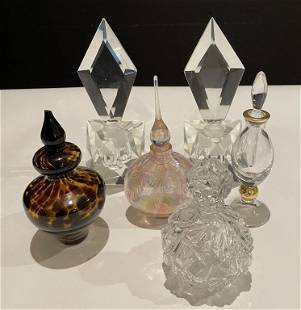 Collection of 6 Perfume Bottles