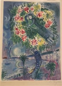 Marc Chagall Couple et Poisson, Signed