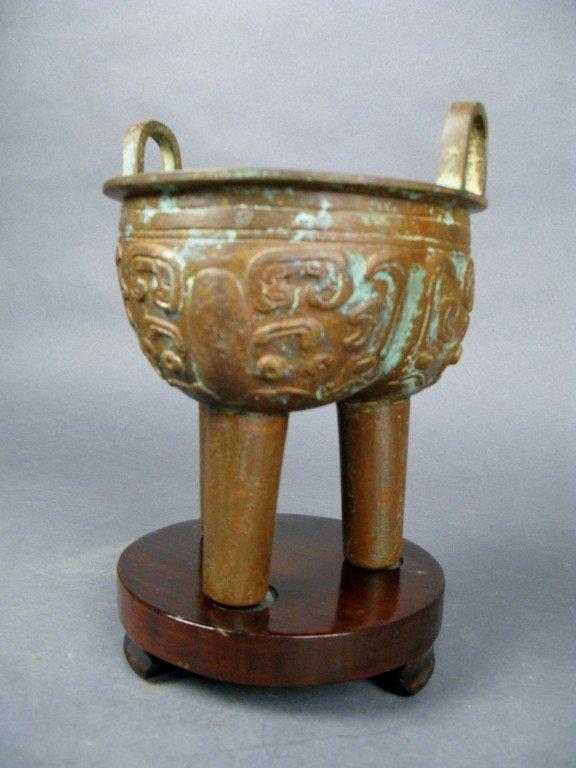 12: Chinese bronze bowl