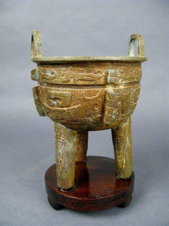 13: Chinese bronze bowl