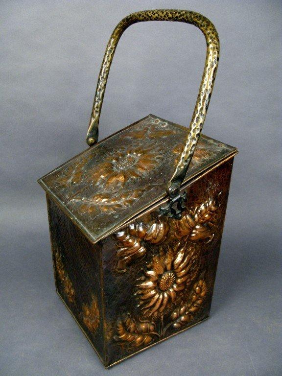 21: Metal firewood box