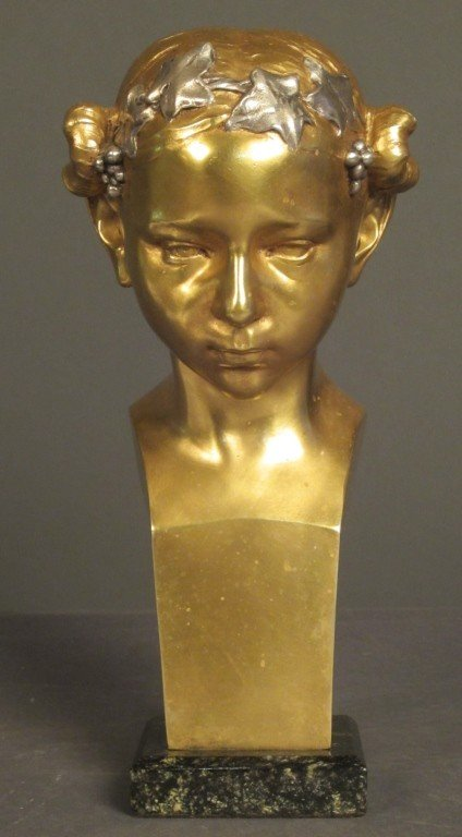 1: Eugene D. Piron (1875- 1928) French, Art deco bust