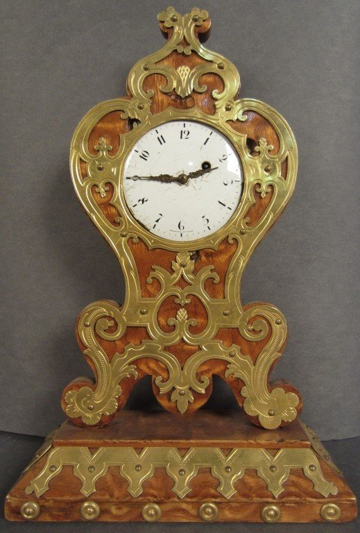 3: Breguet & Fils Wood clock with bronze doré ormolu