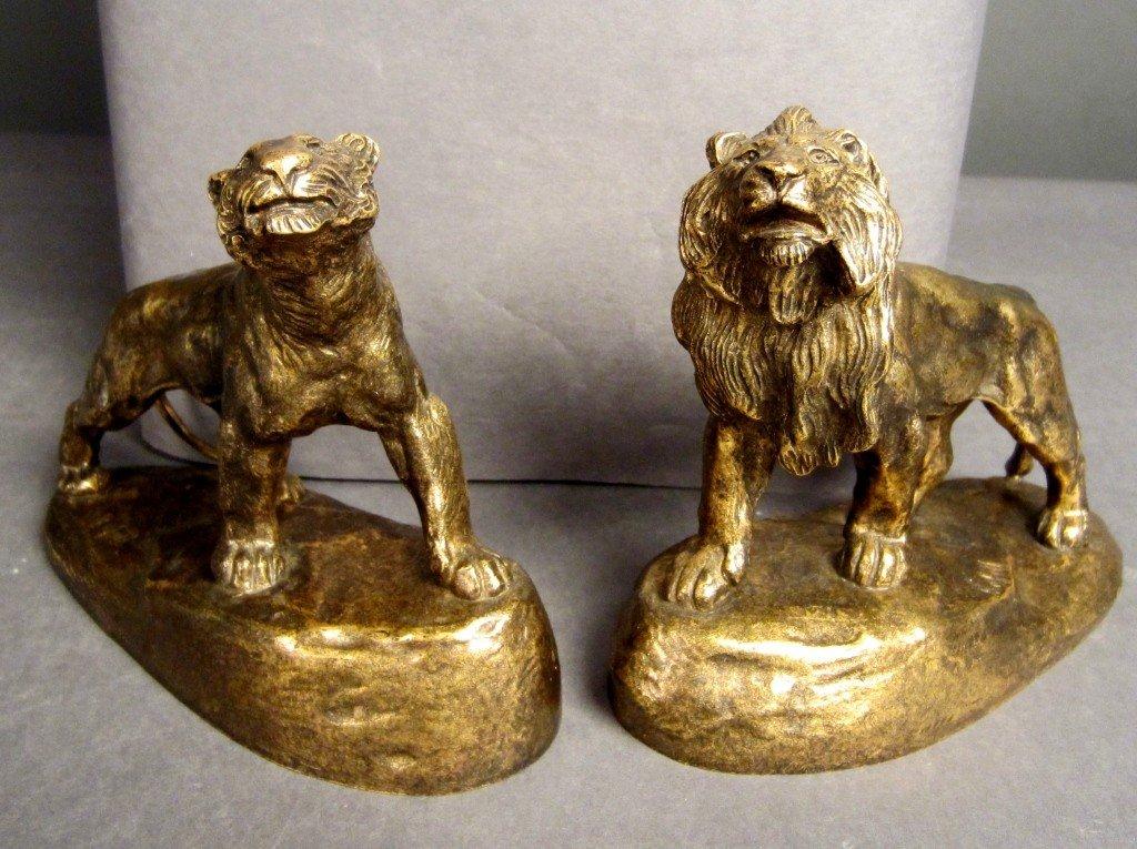 4: Antoine Bofill (1875-1921) Bronze Lions