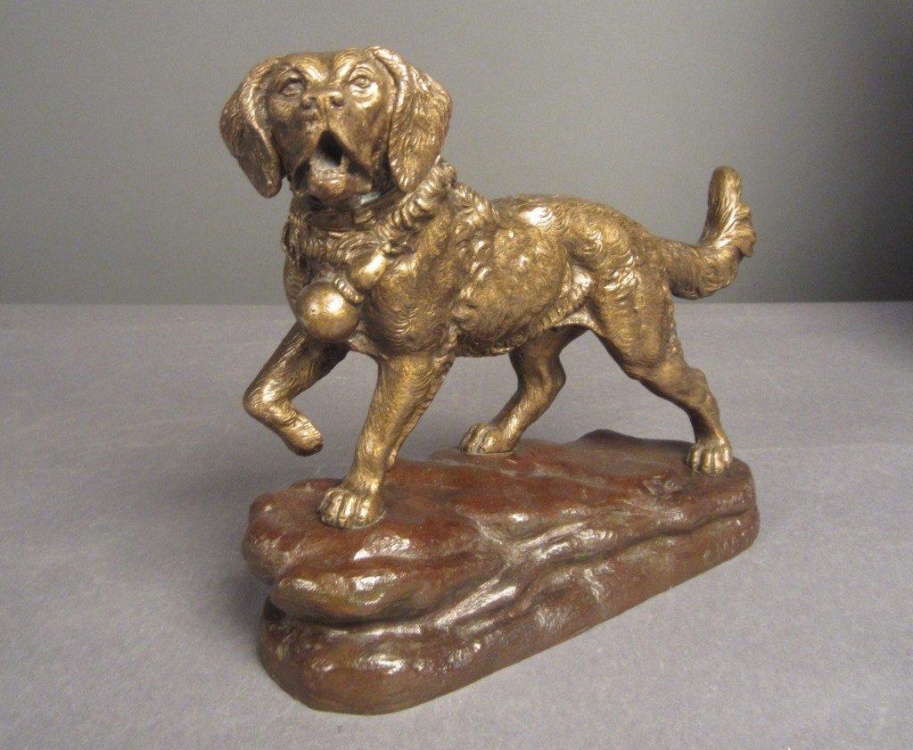5: C. Masson (1838-1913) French, Bronze Dog