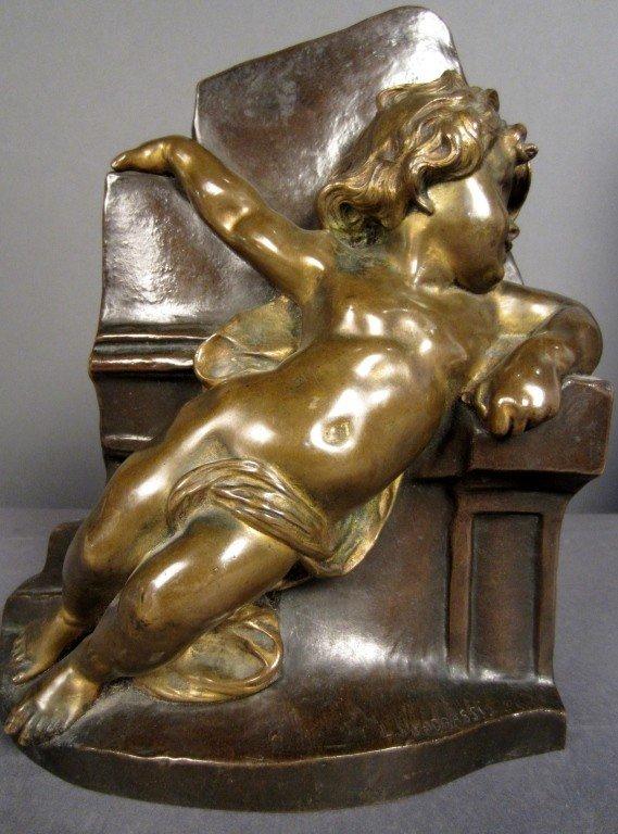 6: L. Madrassi (1848-1919) French, Bronze Child