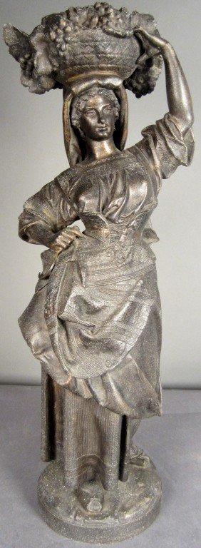 9: Patinated Metal Sculpture, 19th C