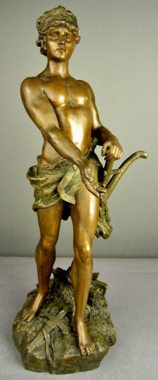 10: A. Moreau (1834-1917) French Metal Sculpture