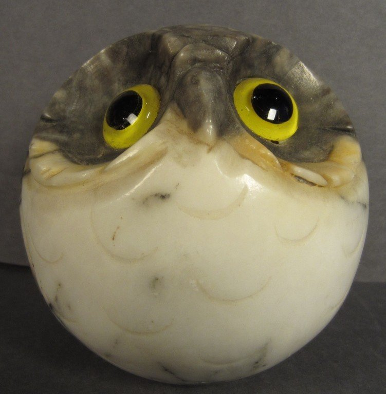 15: Paperweight, Alabaster Owl