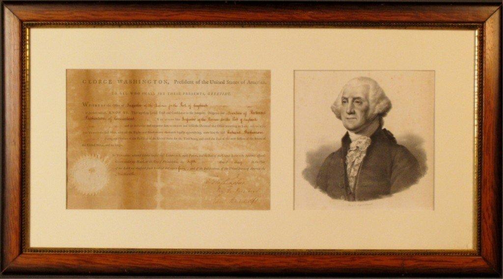 320: Pressed Seal and George Washington signature