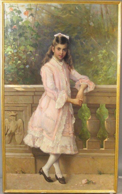 350: Vittorio Matteo Corcos (1859-1933) Italian, O/C