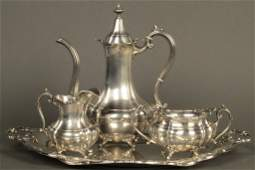 392 4 piece sterling silver demitasse set