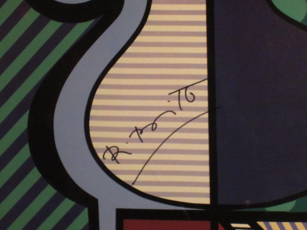 "13: Romero Britto ""Flowers in Vase"" Signed Print - 3"