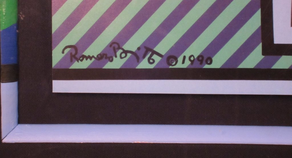 "13: Romero Britto ""Flowers in Vase"" Signed Print - 4"