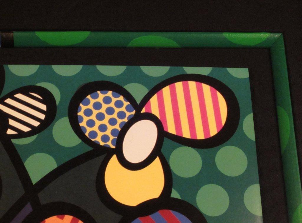 "13: Romero Britto ""Flowers in Vase"" Signed Print - 5"
