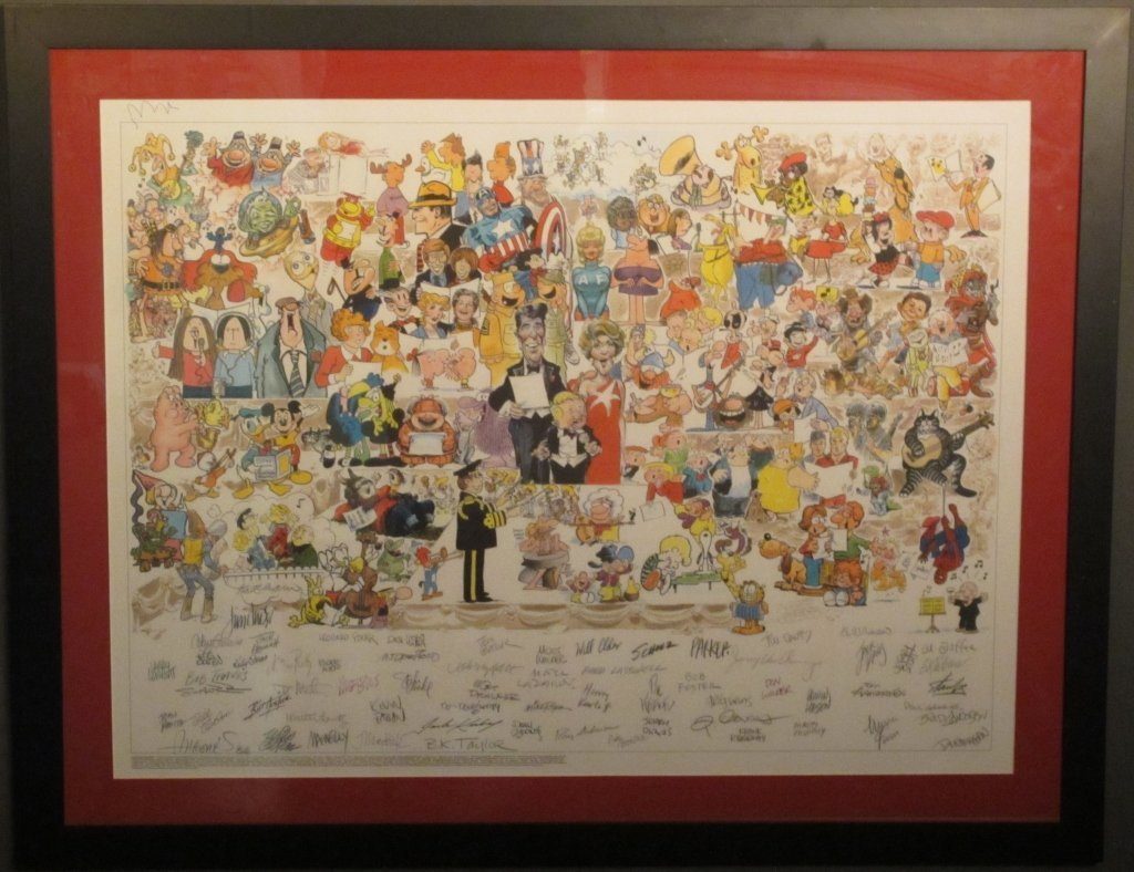 "22: ""Voice for Children"" Cartoon Jam Signed by Artists"